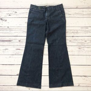 GAP straight fit flared leg pants